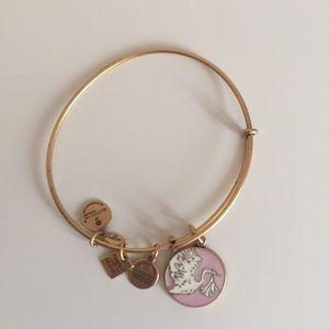 Alex and Ani Gold Stork Bracelet